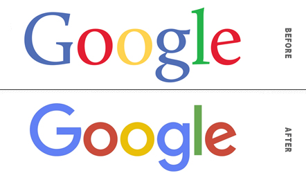Google Logo Before and After Comparison