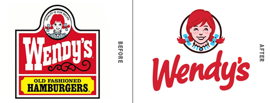 Wendy's Logo Before and After Comparison