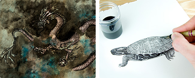 Pen-and-Ink Illustrations