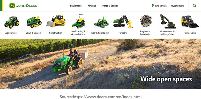 John Deere Website Screenshot